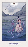 Eight of Cups Tarot card in White Numen deck