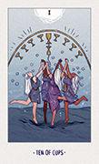Ten of Cups Tarot card in White Numen deck
