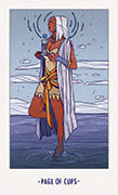 Page of Cups Tarot card in White Numen deck