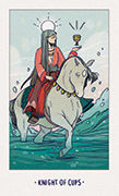 Knight of Cups Tarot card in White Numen deck