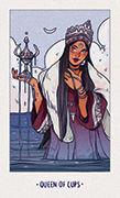 Queen of Cups Tarot card in White Numen deck