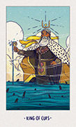 King of Cups Tarot card in White Numen deck