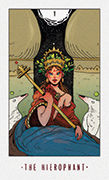 The Hierophant Tarot card in White Numen deck