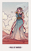 Page of Swords Tarot card in White Numen deck