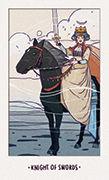 Knight of Swords Tarot card in White Numen deck