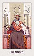 King of Swords Tarot card in White Numen deck
