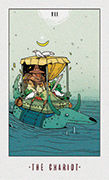 The Chariot Tarot card in White Numen deck