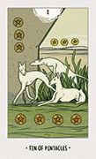 Ten of Pentacles Tarot card in White Numen deck