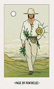 Page of Pentacles Tarot card in White Numen deck