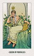Queen of Pentacles Tarot card in White Numen deck