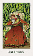 King of Pentacles Tarot card in White Numen deck
