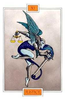 Justice Tarot Card - Winged Spirit Tarot Deck