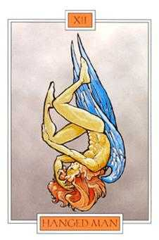 The Hanged Man Tarot Card - Winged Spirit Tarot Deck
