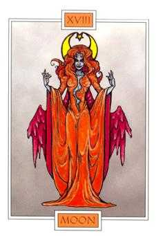The Moon Tarot Card - Winged Spirit Tarot Deck