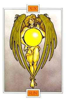The Sun Tarot Card - Winged Spirit Tarot Deck