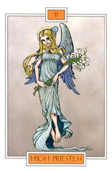 The High Priestess Tarot Card - Winged Spirit Tarot Deck