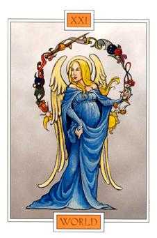 The World Tarot Card - Winged Spirit Tarot Deck
