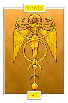 Ace of Rods Tarot Card - Winged Spirit Tarot Deck