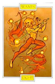 Eight of Batons Tarot Card - Winged Spirit Tarot Deck