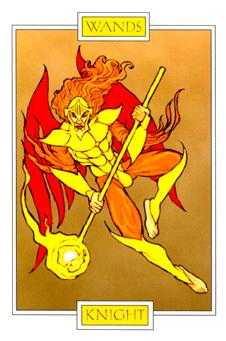 Knight of Batons Tarot Card - Winged Spirit Tarot Deck