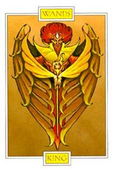 King of Staves Tarot Card - Winged Spirit Tarot Deck