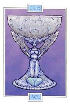Ace of Bowls Tarot Card - Winged Spirit Tarot Deck