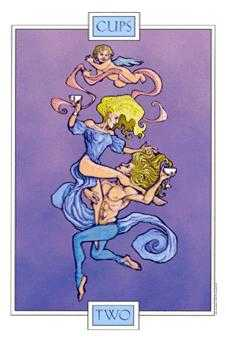 Two of Cups Tarot Card - Winged Spirit Tarot Deck