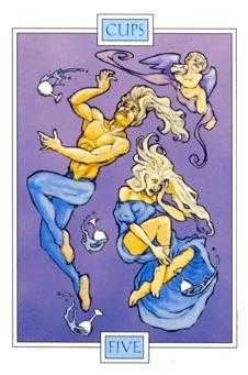 Five of Water Tarot Card - Winged Spirit Tarot Deck
