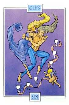 Six of Ghosts Tarot Card - Winged Spirit Tarot Deck