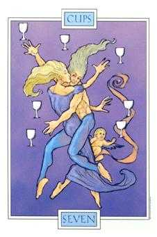 Seven of Bowls Tarot Card - Winged Spirit Tarot Deck