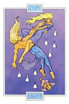 Eight of Ghosts Tarot Card - Winged Spirit Tarot Deck