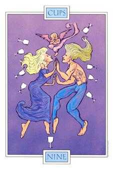 Nine of Bowls Tarot Card - Winged Spirit Tarot Deck
