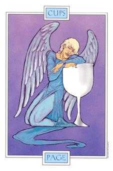 Daughter of Cups Tarot Card - Winged Spirit Tarot Deck