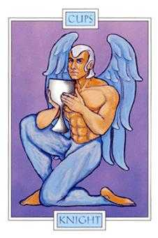 Cavalier of Cups Tarot Card - Winged Spirit Tarot Deck