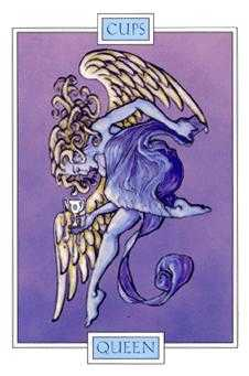 Queen of Bowls Tarot Card - Winged Spirit Tarot Deck