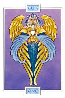 King of Cauldrons Tarot Card - Winged Spirit Tarot Deck