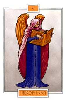 The Hierophant Tarot Card - Winged Spirit Tarot Deck