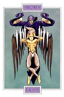 Eight of Bats Tarot Card - Winged Spirit Tarot Deck