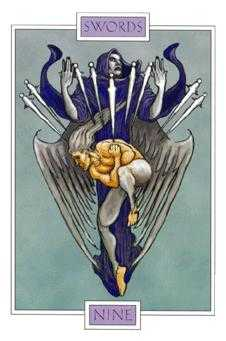 Nine of Bats Tarot Card - Winged Spirit Tarot Deck