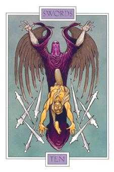 Ten of Bats Tarot Card - Winged Spirit Tarot Deck