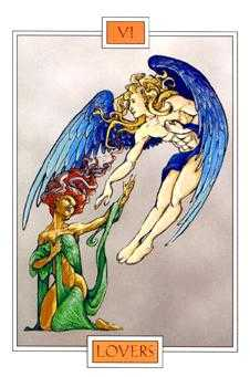 The Lovers Tarot Card - Winged Spirit Tarot Deck
