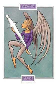Page of Spades Tarot Card - Winged Spirit Tarot Deck
