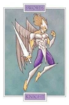 Knight of Spades Tarot Card - Winged Spirit Tarot Deck