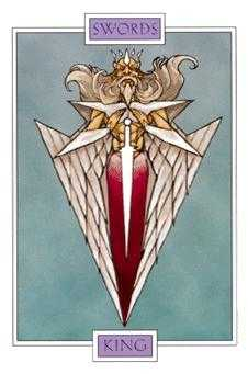 King of Spades Tarot Card - Winged Spirit Tarot Deck