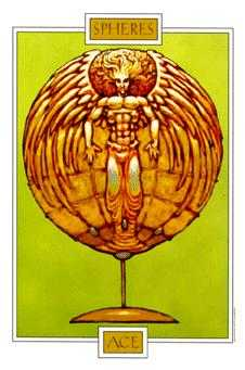 Ace of Spheres Tarot Card - Winged Spirit Tarot Deck