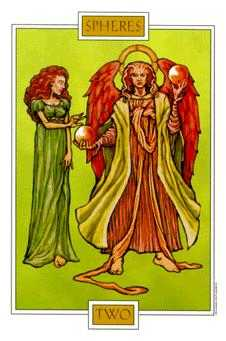 Two of Buffalo Tarot Card - Winged Spirit Tarot Deck