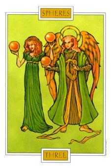 Three of Stones Tarot Card - Winged Spirit Tarot Deck