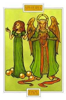 Five of Rings Tarot Card - Winged Spirit Tarot Deck