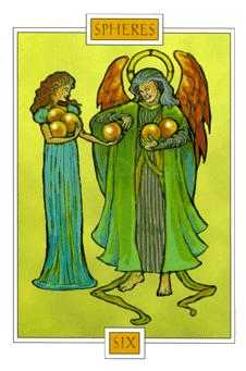 Six of Coins Tarot Card - Winged Spirit Tarot Deck