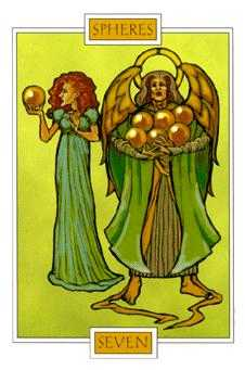 Seven of Coins Tarot Card - Winged Spirit Tarot Deck